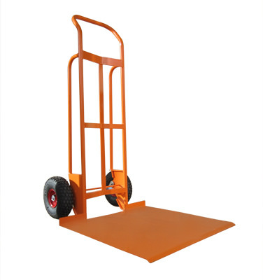 Custom Curved Back Hand Truck with Massive Toeplate