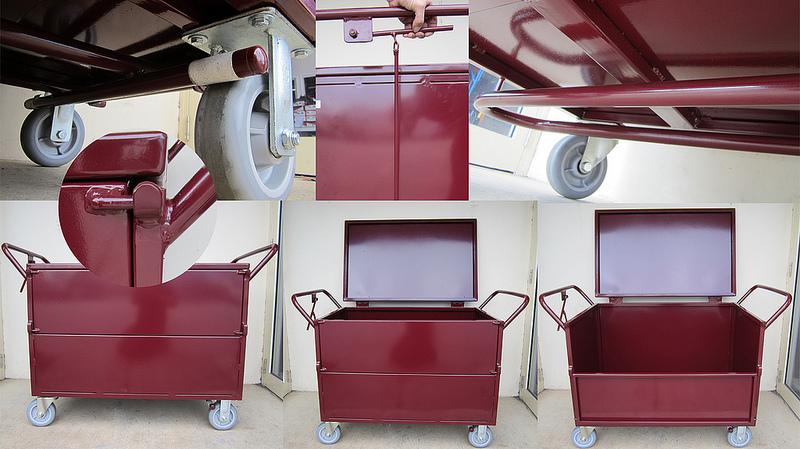 Custom Fully Enclosed Lockable Box Trolley