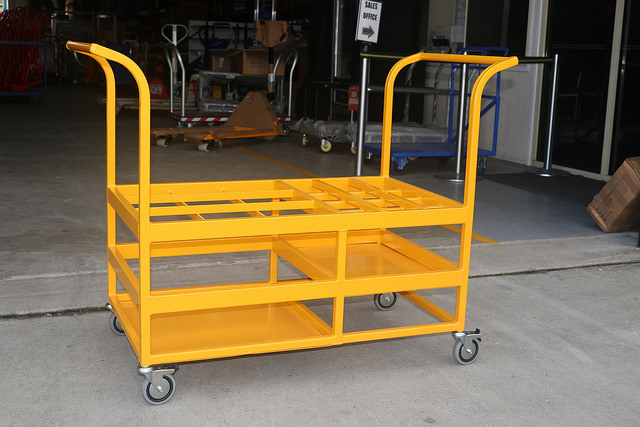 Custom Hospital Gas Bottle Trolley