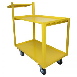 MC250CB Traymobile with Clipboard Holder Yellow 2Tier