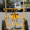 CT26 Double G Size Gas Bottle Cylinder Trolley - Front with Arm UP