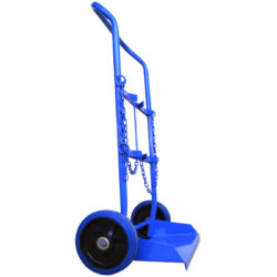 MT229 Double 'E' Size Gas Bottle Cylinder Trolley with Blue Rubber Wheels