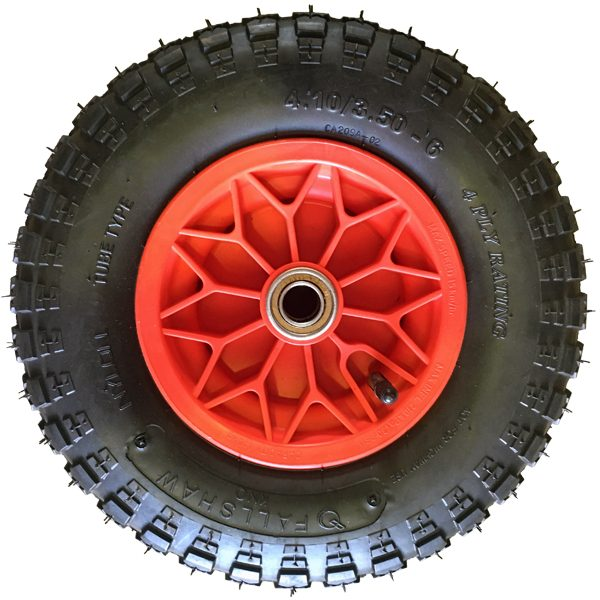 Dash-7PW 320mm Polypropylene Rim Pneumatic Wheels 350X6