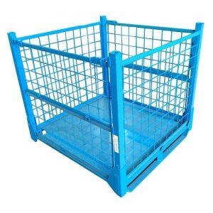 PC10S-Stillage Steel Mesh Stackable Pallet Cage Storage_01