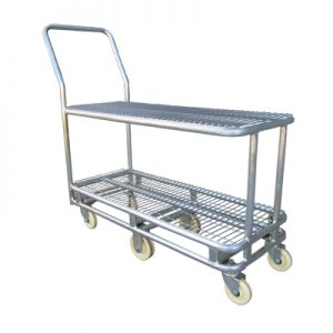 HD047 Double Supermarket Warehouse Stock Trolley