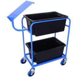 MT403 Order Picking Cart with Twin Tubs and Clipboard Holder
