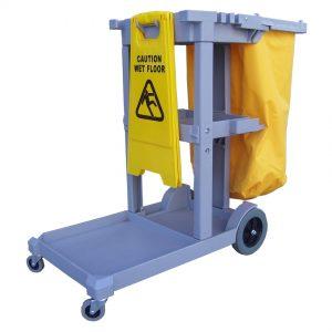 PTJAN Plastic Janitorial Cart