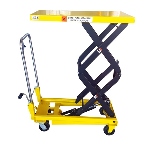 BS35D Hydraulic Manual DOUBLE Scissor Lift Table - PLATFORM UP