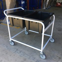 Custom White Orderpicking Trolley Cart