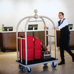 Premium Luggage Bellboy Bellhop Trolley - Hotel Guest Services Cart