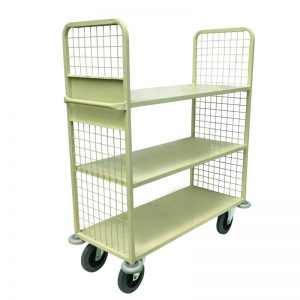 Housekeeping Linen Cart with Mesh Sides in Primrose Finish