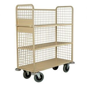Mesh Back Linen Housekeeping Cart