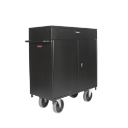 Lockable Hospitality Minibar Cart Grey Wheels