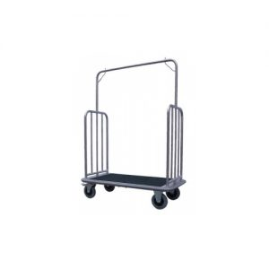 Hotel Luggage and Garment Trolley - Clothes-Hanger Coat-Rail Cart