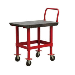 Plastic Deck Work Bench Height Platform- Flatbed Storage Warehouse Trolley