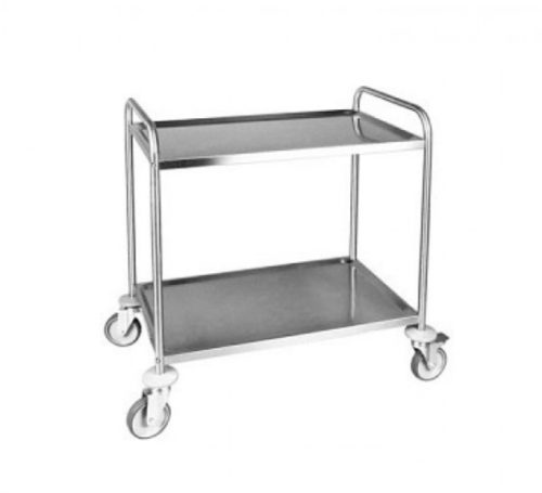 2 Tier Stainless Traymobile for Food Service / Multiple Shelf Serving Cart Trolley Brisbane