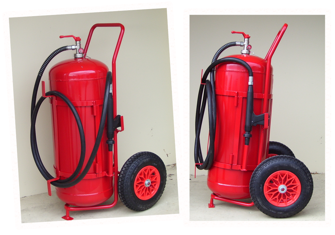 Custom Fire Fighting Extinguisher Trolley