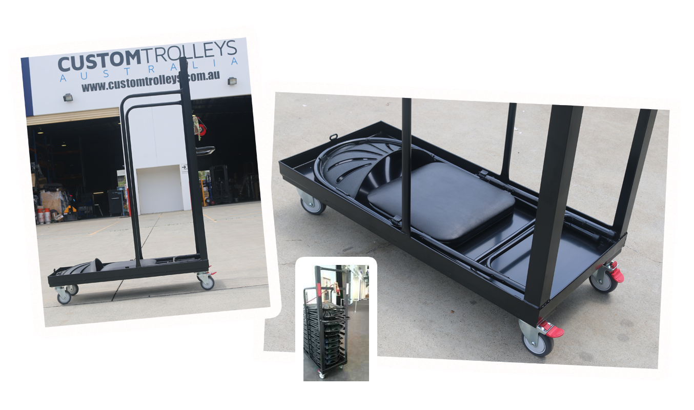 Custom Folding Chair-Stack Trolley 2015