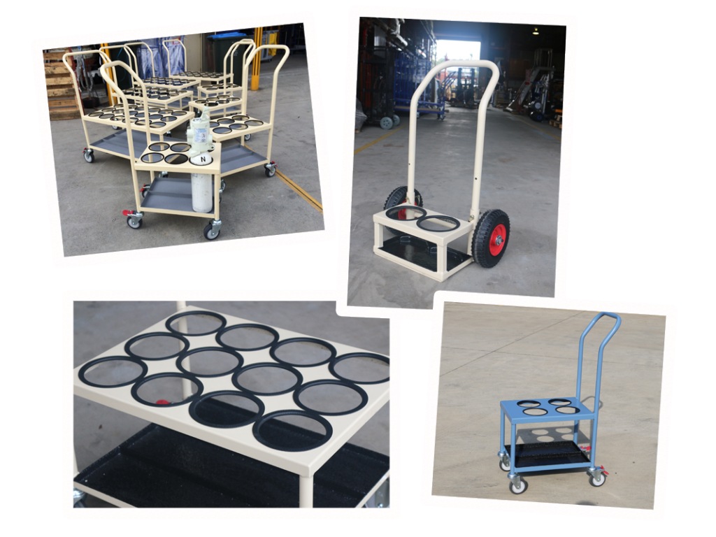 Custom Hospital Oxygen Bottle Trolley