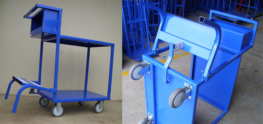 Custom Order Picking Step Trolley