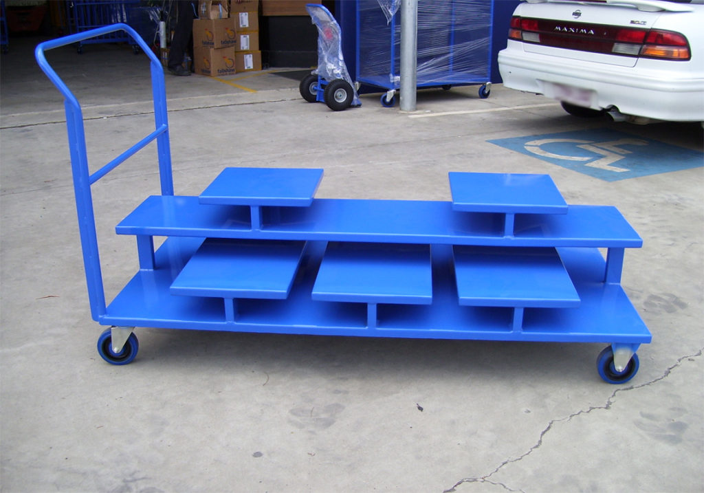 Custom Retracta Barrier Post Trolley