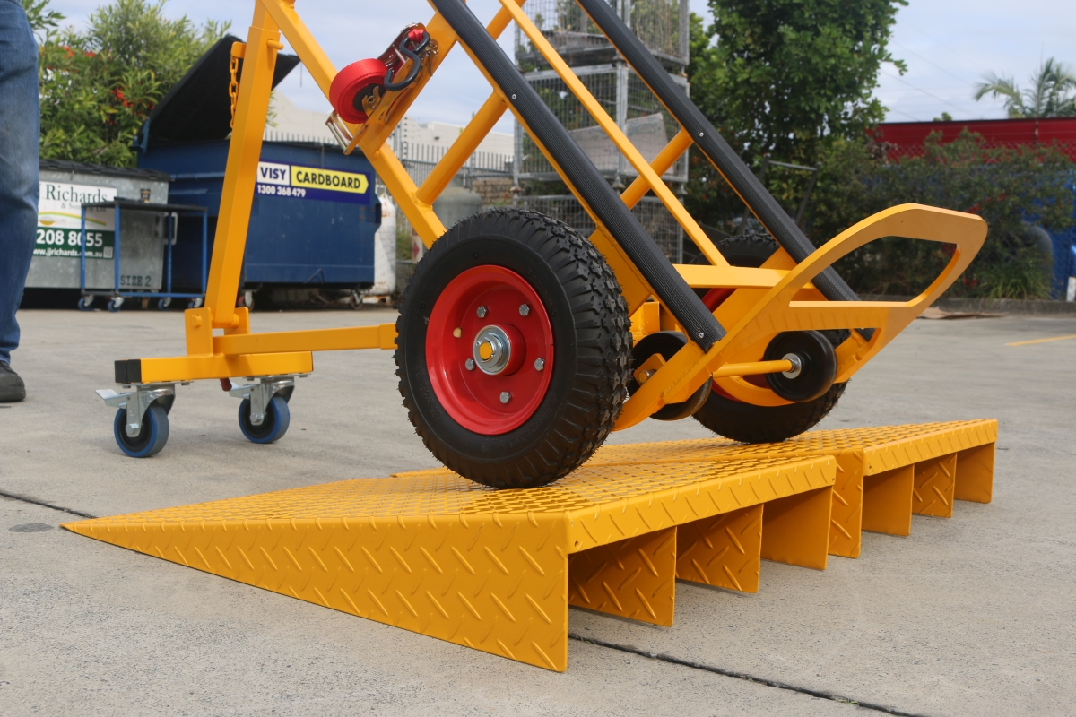 Custom Warehousing Appliance Trolley with Layback and Ramp