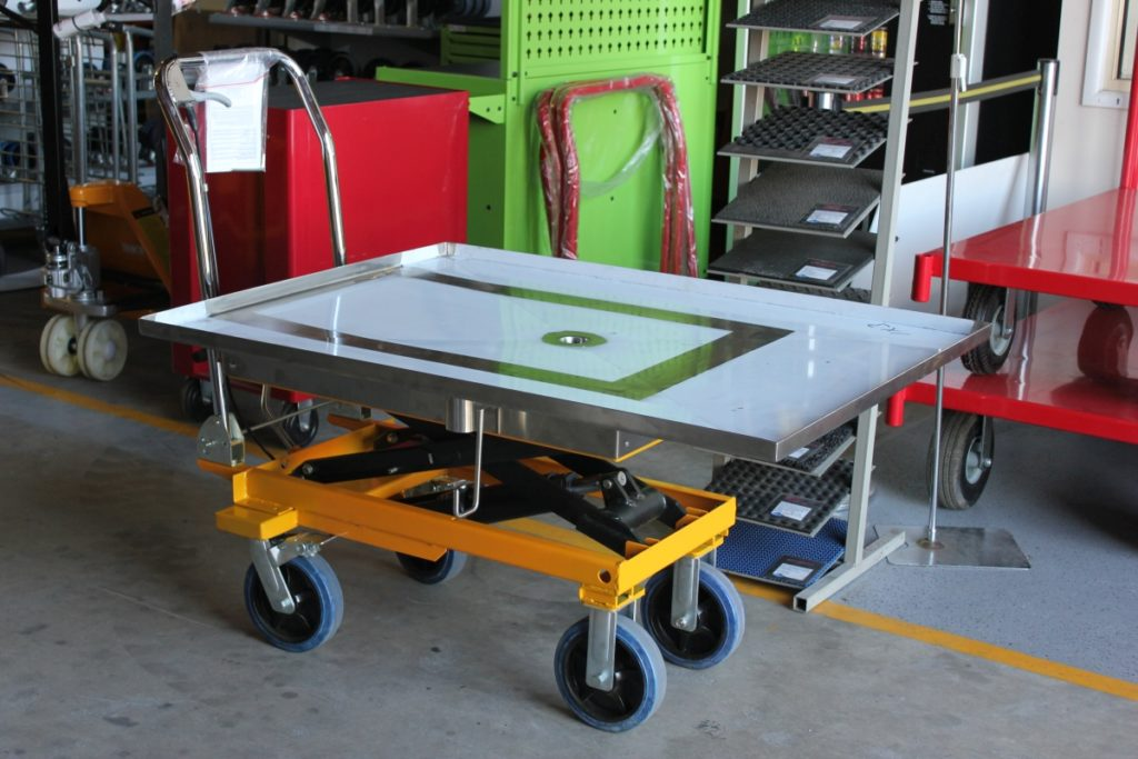 Custom Special Scissor Lift Table with Aluminium Counter Top