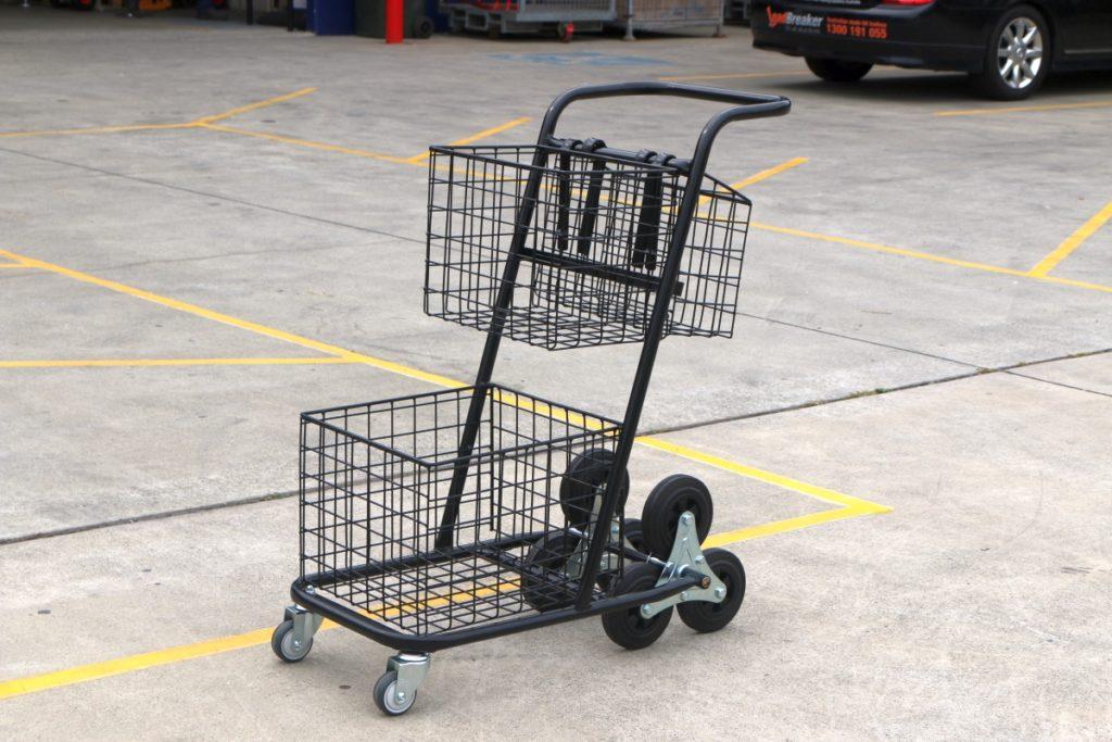 Custom Basket Shopping Trolley Cart Removable Baskets Stairclimbing Wheels