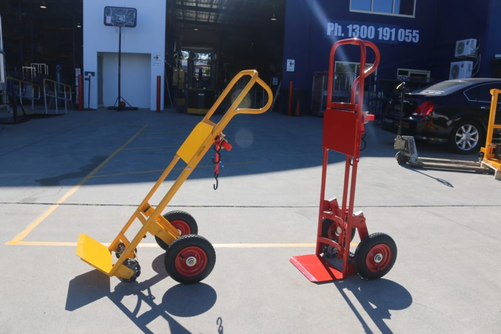 Custom Gas Bottle Trolley with Cylinder Magnet, Layback and Rotorcasters