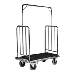 Hotel Luggage Suitcase Baggage and Garment Trolley