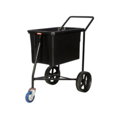 Mail Cart Post Trolley Black