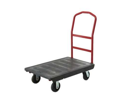 Plastic Deck Platform- Flatbed Storage Warehouse Trolley