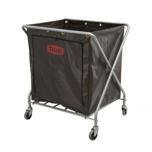 Soiled Linen Skip Laundry Bag 'X' Frame Cloth Bin Trolley
