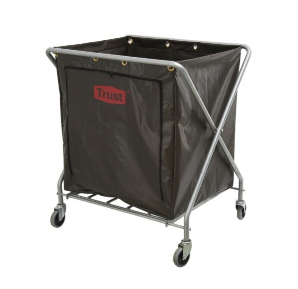 Soiled Linen Skip Laundry Bag 'X' Frame Cloth Bin Trolley