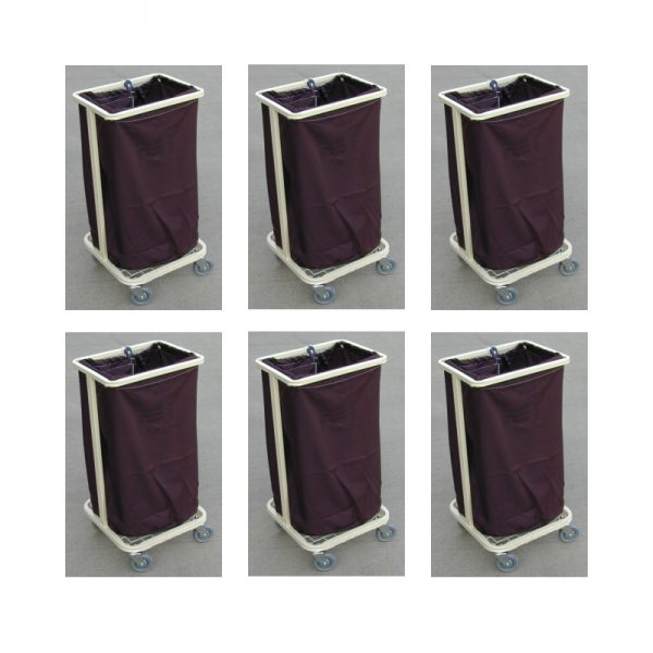 Single-Bag Housekeeper Soiled Linen Skip / Dirty Laundry Trolley