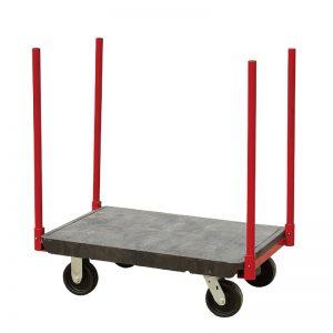 Warehouse Bulky-Item Stanchion Storeroom Cart