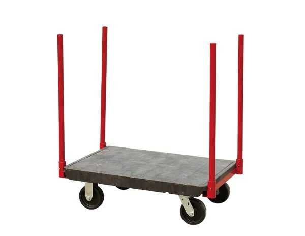 Warehouse Bulky-Item Stanchion Storeroom Cart