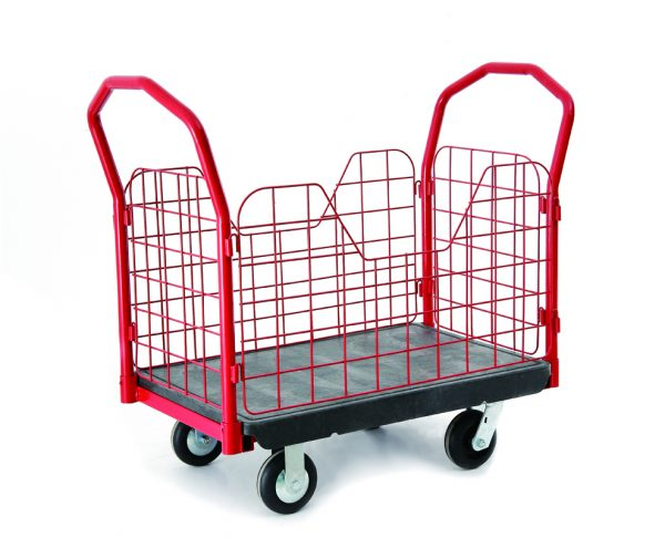 Warehouse Mesh Cage Cart / Order-Picking Storeroom Parcel Bin Trolley