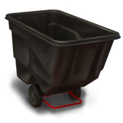 Warehouse Plastic Tilting Tub / Bin-on-Wheels Cart