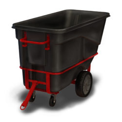 Warehouse Plastic Tow/Pull-Along Tilting Tub / Bin-on-Wheels Cart