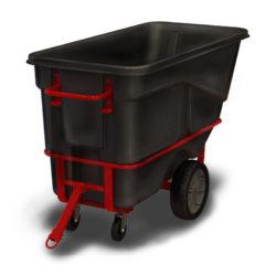 Warehouse Plastic Tow/Pull-Along Tilting Tub / Bin-on-Wheels Cart